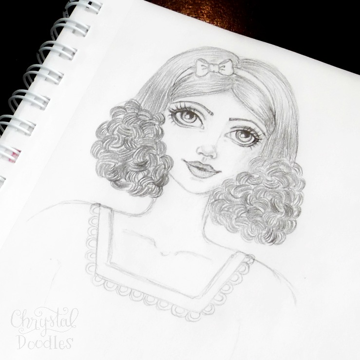 My version of Snow White | Chrystal Doodles