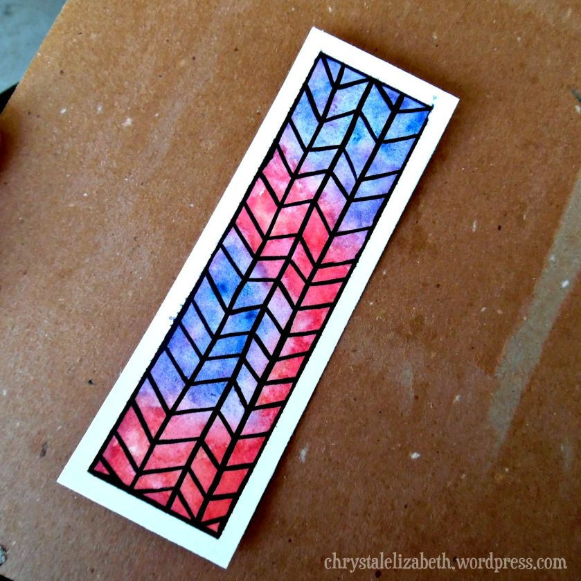 DIY Watercolor Bookmark | ChrystalElizabeth
