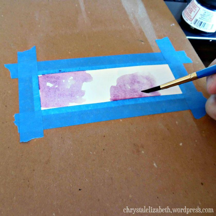 DIY Watercolor Bookmark | ChrystalElizabeth