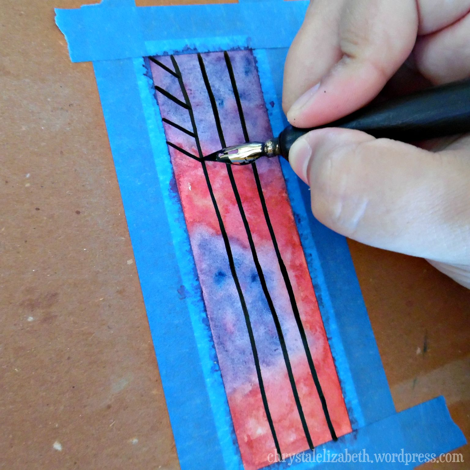 Watercolor bookmarks - Diy Watercolor Bookmark Chrystalelizabeth