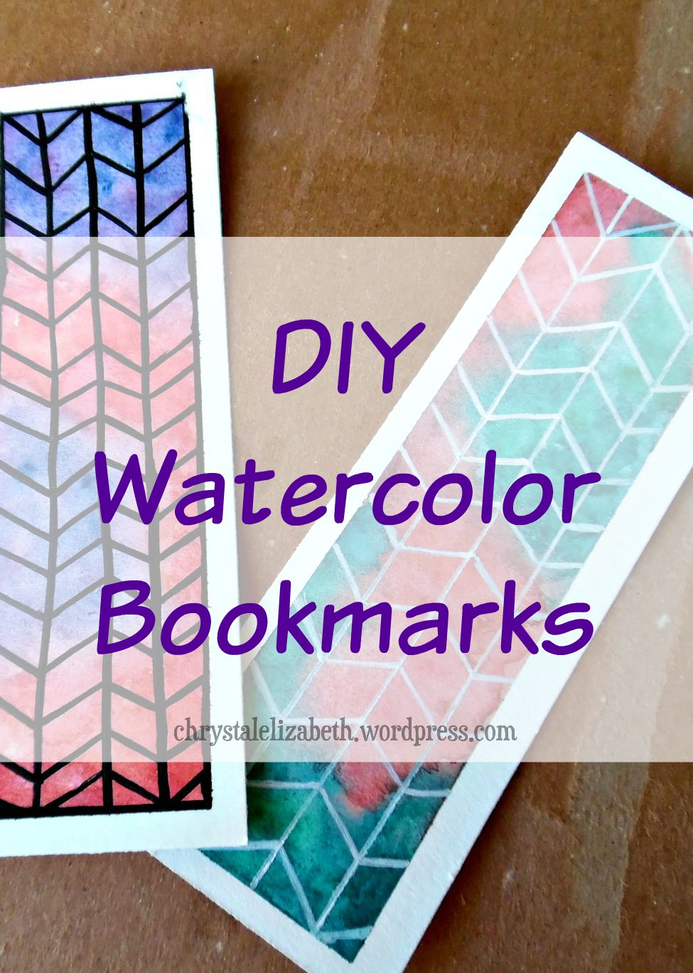 Watercolor bookmark patterns - Diy Watercolor Bookmark Chrystalelizabeth