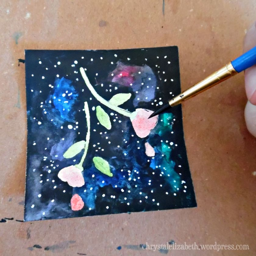 FLowers In Space - How I made it - Step by Step | Chrystal Elizabeth