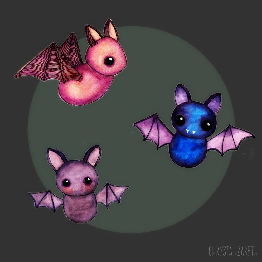 3 Little Bats by Chrystalizabeth