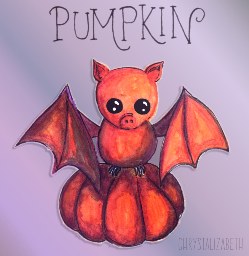 Pumpkin Bat by Chrystalizabeth