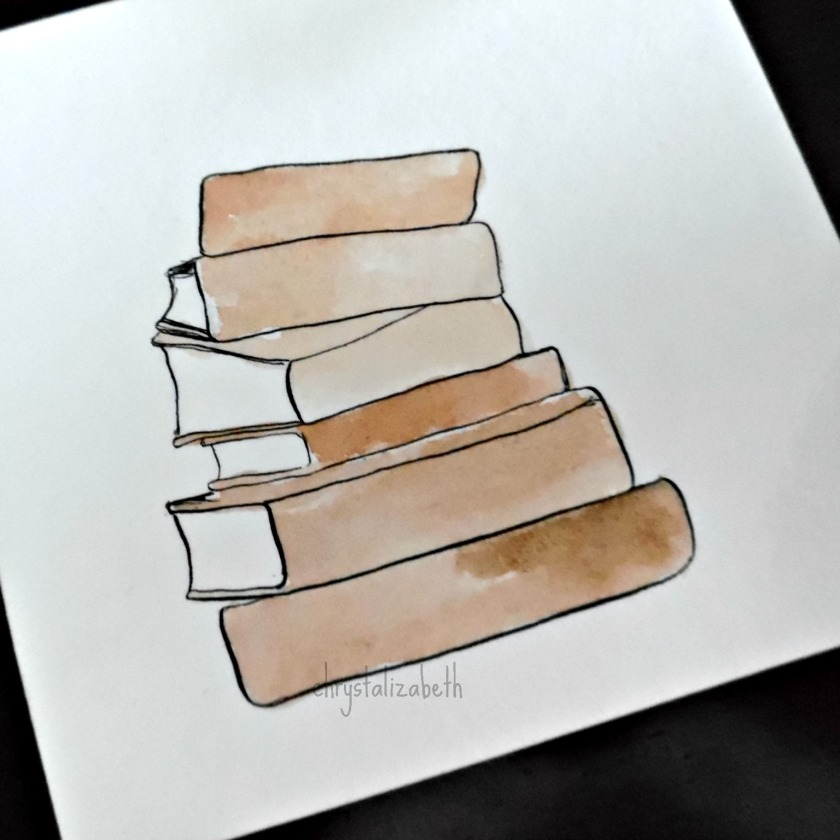 Watercolor Vintage Books From Start To Finish | chrystalizabeth
