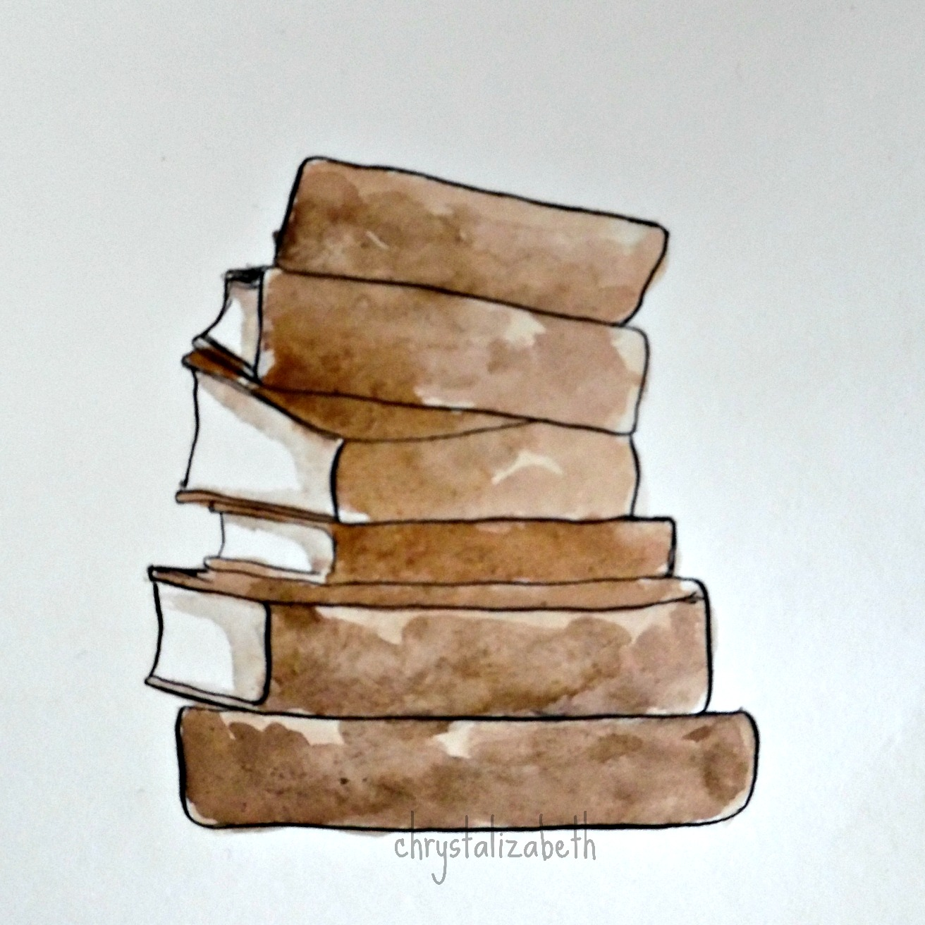 Watercolor: Stack of Books [From Start To Finish] – chrystalizabeth