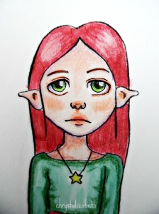 Holly - A Christmas Elf | Process from start to finish | chrystalizabeth