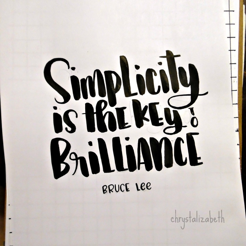 Simplicity Quote by Bruce Lee | From Start To Finish | chrystalizabeth