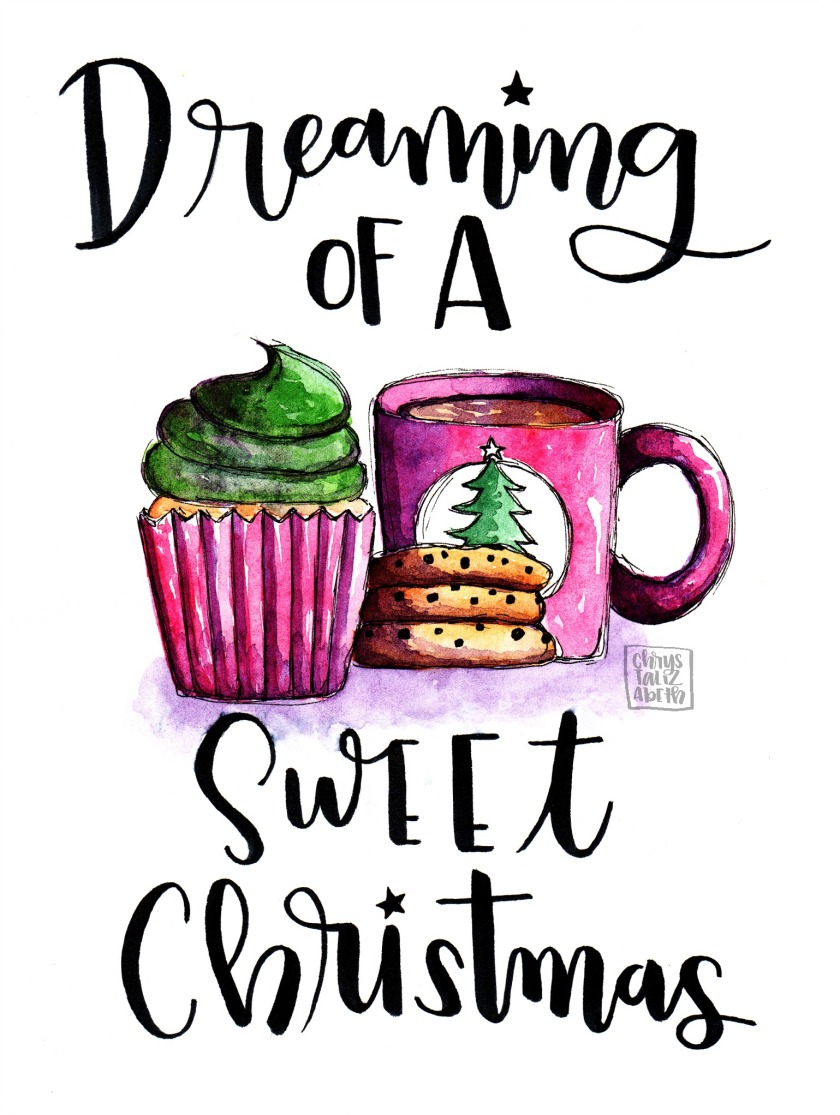 Sweet Christmas by chrystalizabeth [Lettering & Watercolor from Start to Finish]