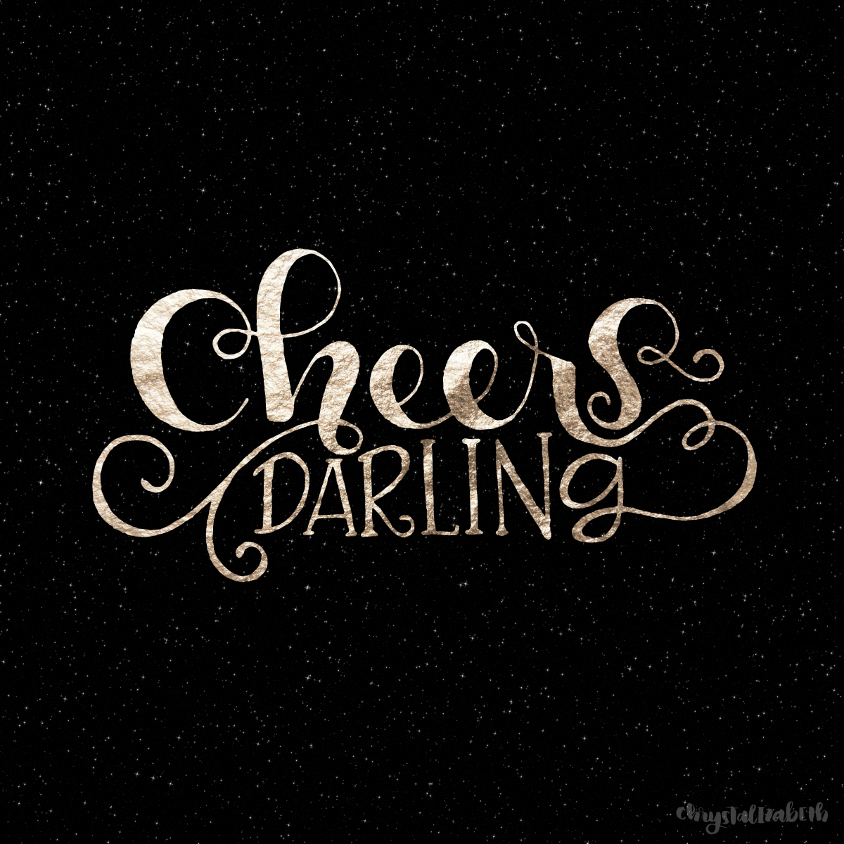 Cheers Darling! Happy New Year! [A LetteringTutorial]