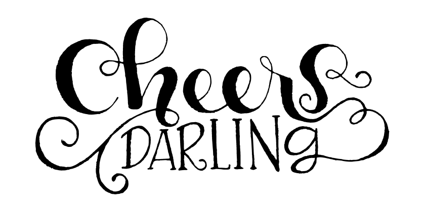 Cheers Darling - A Lettering Tutorial. A break down showing how I made this hand lettered quote for New Year's. Visit http://bit.ly/1kfsm8h to see more.