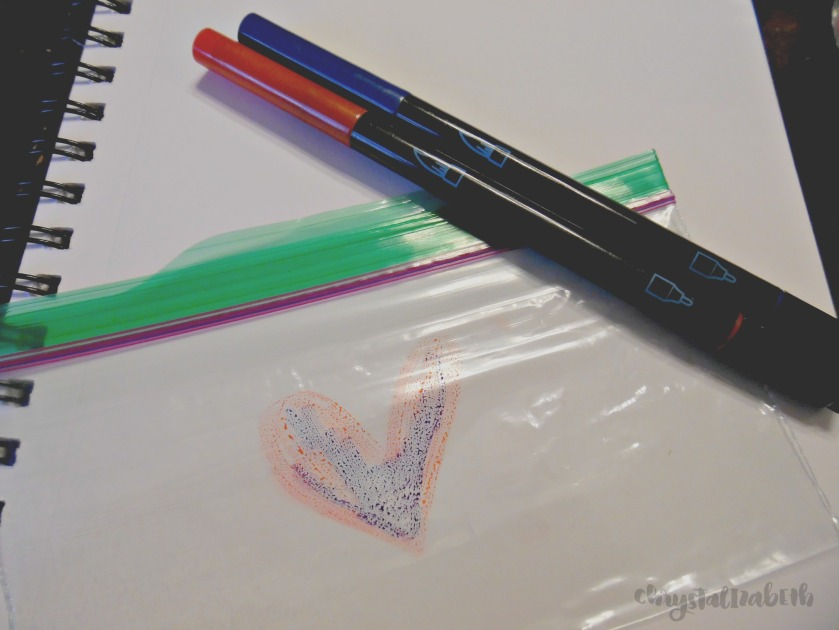 Valentine Heart Tutorial using Watercolor Markers | chrystalizabeth