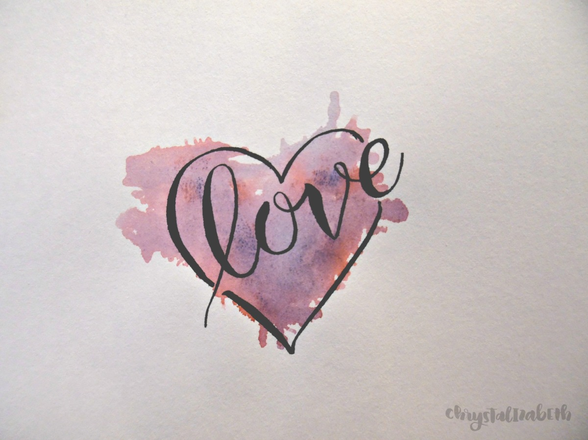Easy To Make Valentine Heart [A Watercolor Brush Marker Tutorial]