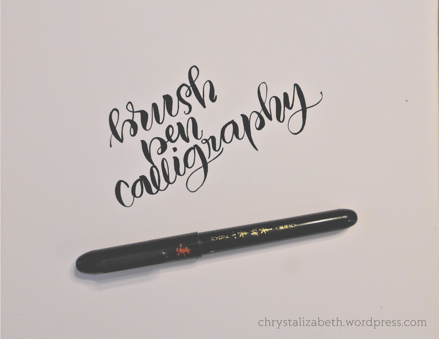 Three different brush lettering styles to try