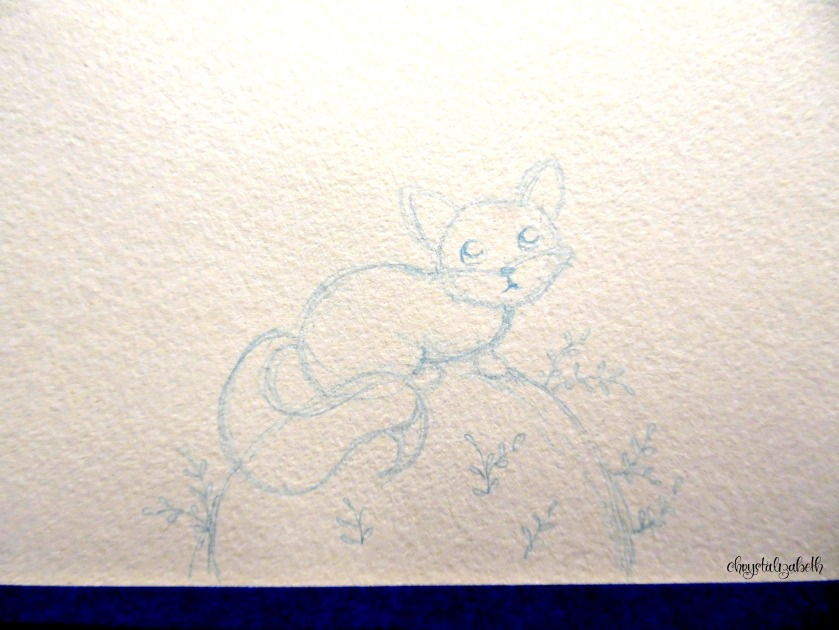 Little Fox Painting by chrystalizabeth - Including process from start to finish with photos.